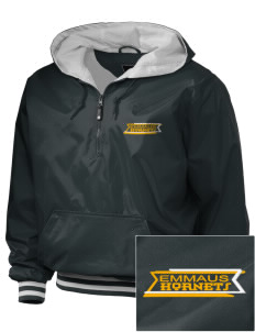 Emmaus High School Hornets Embroidered Holloway Men's Duraweav 1/4-Zip Hooded Jacket