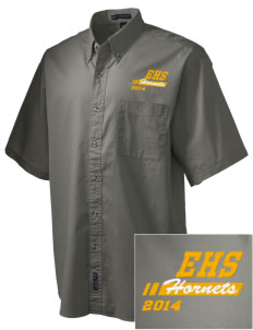 Emmaus High School Hornets Embroidered Men's Short Sleeve Twill Shirt