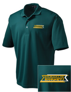 Emmaus High School Hornets Embroidered Men's Dri Mesh Polo