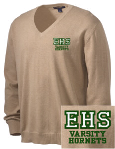 Emmaus High School Hornets Embroidered Men's V-Neck Sweater
