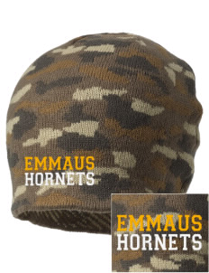 Emmaus High School Hornets Embroidered Camo Beanie