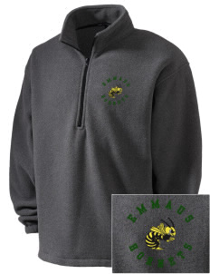 Emmaus High School Hornets Embroidered Men's 1/4-Zip Fleece Jacket