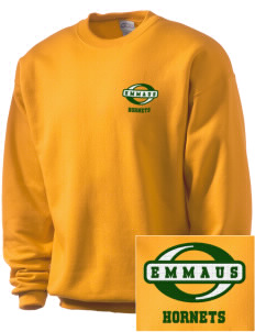 Emmaus High School Hornets Embroidered Men's Crewneck Sweatshirt