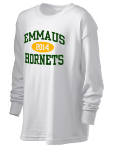 Emmaus High School Hornets Kid's 6.1 oz Long Sleeve Ultra Cotton T-Shirt