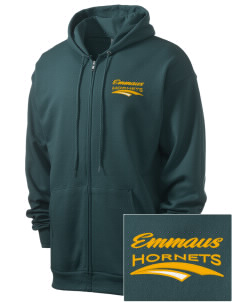 Emmaus High School Hornets Men's 7.8 oz Lightweight Full-Zip Hooded Sweatshirt