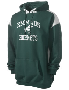 Emmaus High School Hornets Men's Pullover Hooded Sweatshirt with Contrast Color