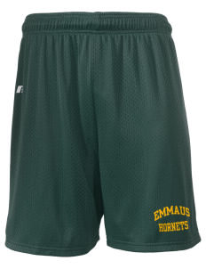 "Emmaus High School Hornets  Russell Men's Mesh Shorts, 7"" Inseam"