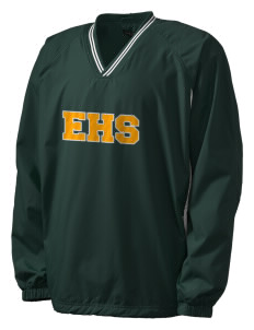 Emmaus High School Hornets Men's Tipped V-Neck Raglan Wind Shirt with Tackle Twill