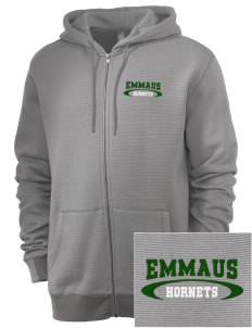Emmaus High School Hornets Embroidered Men's Mini Stripe Full Zip Hooded Sweatshirt