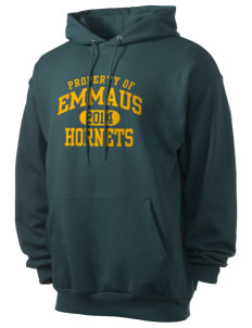 Emmaus High School Hornets Men's 7.8 oz Lightweight Basic Hooded Sweatshirt