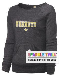 Emmaus High School Hornets Alternative Women's Embroidered Maniac Sweatshirt with Sparkle Twill™