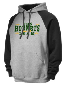 Emmaus High School Hornets Men's 50/50 NuBlend Colorblock Hooded Sweatshirt
