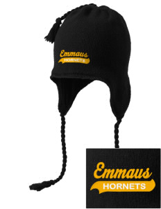 Emmaus High School Hornets Embroidered Knit Hat with Earflaps