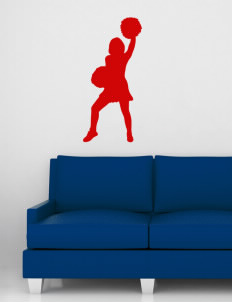 "Barrett Learning Center Cardinals Wall Silhouette Decal 20"" x 32"""