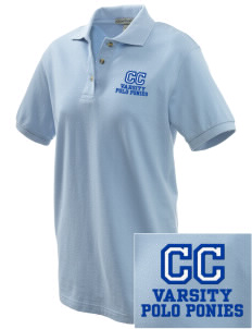 Chukker Creek Elementary School Polo Ponies Embroidered Women's Pique Polo