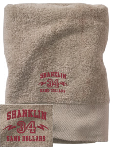 Shanklin Elementary School Sand Dollars Embroidered Zero Twist Resort Towel