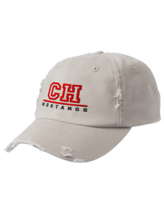 Cherry Hill Elementary School Mustangs Embroidered Distressed Cap