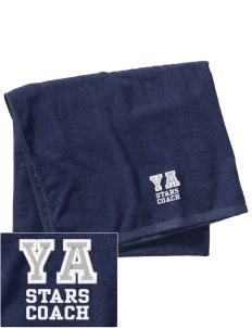 Yoakum Primary Annex School Stars Embroidered Beach Towel