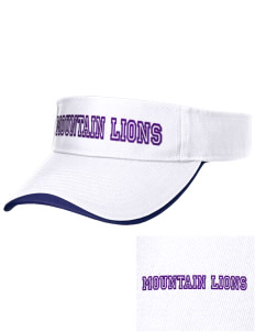 Icicle River Middle School Mountain Lions Embroidered Binding Visor