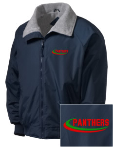 African American Academy Panthers Embroidered Men's Fleece-Lined Jacket