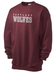 Eastlake High School Wolves Men's 7.8 oz Lightweight Crewneck Sweatshirt