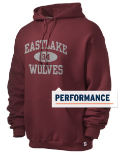Eastlake High School Wolves Russell Men's Dri-Power Hooded Sweatshirt