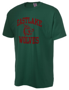 Eastlake High School Wolves  Russell Men's NuBlend T-Shirt