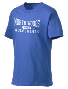 North Woods Elementary School Wolverines Kid's Lightweight T-Shirt