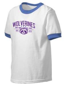 North Woods Elementary School Wolverines Kid's Ringer T-Shirt