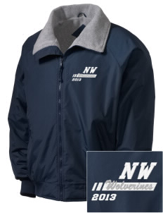 North Woods Elementary School Wolverines Embroidered Tall Men's Challenger Jacket