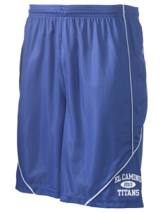 "El Camino Junior High School Titans Men's Pocicharge Mesh Reversible Short, 9"" Inseam"