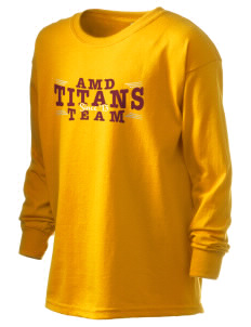 Agbu Manoogian Demirdjian School Titans Kid's 6.1 oz Long Sleeve Ultra Cotton T-Shirt