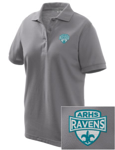 Auburn Riverside High School Ravens Women's Embroidered Silk Touch Polo