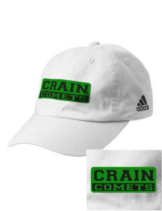 Crain Middle School Comets Embroidered adidas Relaxed Cresting Cap