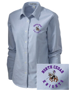 North Cedar Middle School Knights Embroidered Women's Classic Oxford