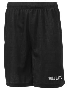 "West Central Middle School Wild Cats Men's Mesh Shorts, 7-1/2"" Inseam"