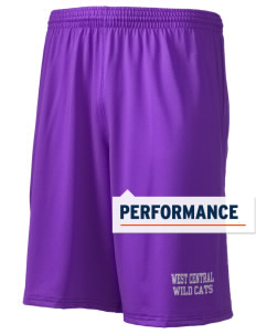"West Central Middle School Wild Cats Holloway Men's Performance Shorts, 9"" Inseam"