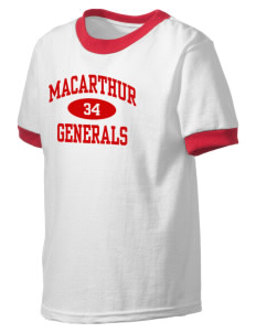 Douglas MacArthur High School Generals Kid's Ringer T-Shirt