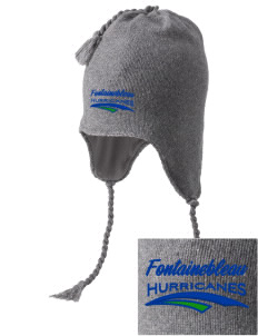 Fontainebleau Junior High School Hurricanes Embroidered Knit Hat with Earflaps