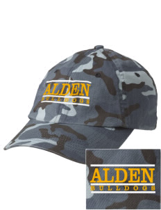 Alden Middle School Bulldogs Embroidered Camouflage Cotton Cap