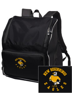New Beginnings School Eagles Embroidered Holloway Backpack
