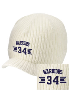 Trinity Christian School Warriors Embroidered Knit Beanie with Visor