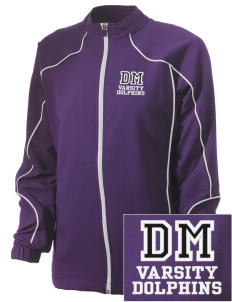 Del Mar Elementary School Dolphins Embroidered Russell Women's Full Zip Jacket