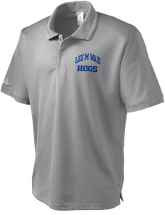 Lee M Waid Elementary School Hogs adidas Men's ClimaLite Athletic Polo