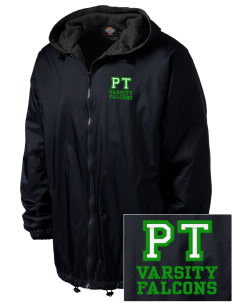 Pine Tree Elementary School Falcons Embroidered Dickies Men's Fleece-Lined Hooded Jacket
