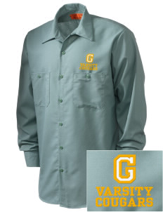 Glendale Adventist Academy Cougars Embroidered Men's Industrial Work Shirt - Regular
