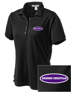 Redding Christian School Lions  Embroidered Women's Bamboo Charcoal Birdseye Jacquard Polo
