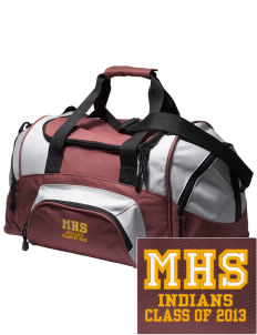 Millersburg Area High School Indians Embroidered Small Colorblock Duffel
