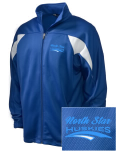 North Star Elementary School Huskies Embroidered Holloway Men's Full-Zip Track Jacket