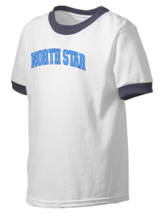 North Star Elementary School Huskies Kid's Ringer T-Shirt